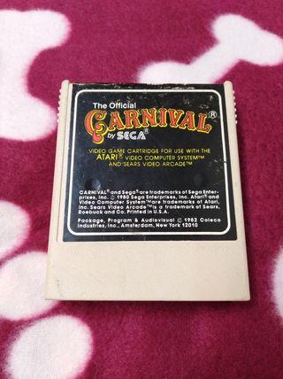 Juego Atari VCS 2600 CARNIVAL envío gratuito.