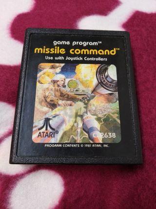 Juego Atari. VCS 2600 MISSILE COMMAND