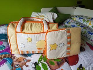 bolsa para bebé y cambiador