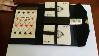 Cartas y dados - poker, en estuche. A estrenar
