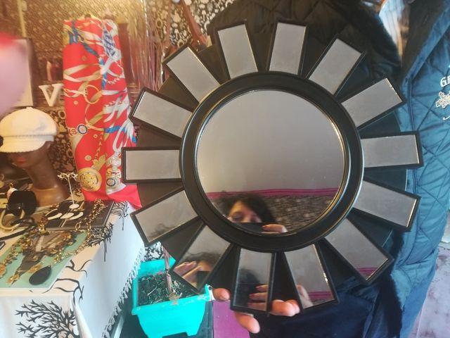 Espejo retro, muy cool, y bonito