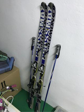Esquís y fijaciones Salomon