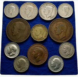 monedas antiguas inglesas