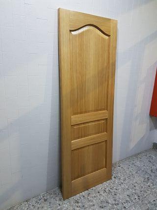 Puerta Roble Americano Maciza