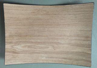 Plateau en Bois et PVC incurvé rectangulaire