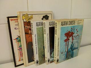 lote 5 libros de crimenes y misterios