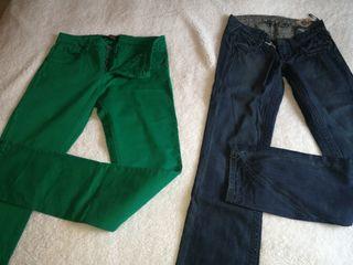 pantalones vaqueros, GUESS, BENETTON, GOLD Y STICT