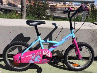 """Bicicleta niña BTWin de 16"""""""