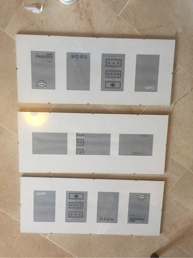 Marcos cristal con clip de Ikea 3 ud de segunda mano por 10 € en ...