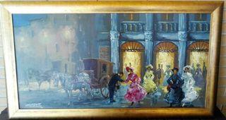 "Cuadro ""Teatro de la Opera"" firmado Jose Puente"