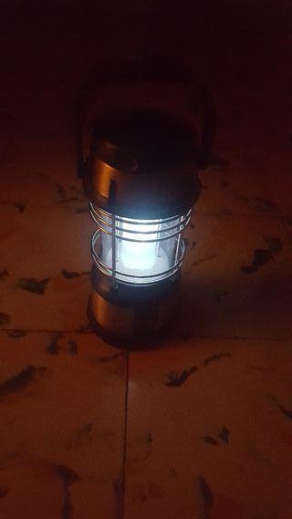 lampara con pielas