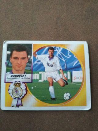 Cromo Dubovsky Real Madrid Liga 94-95