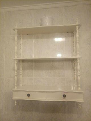 armario colgante de baño blanco