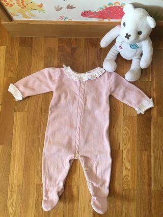 Pelele rosa bebe con cuello T3-6 meses