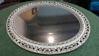 Espejo retro ovalado