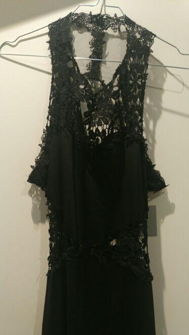 Vestido Negro Largo Noche A Estrenar De Segunda Mano Por 20