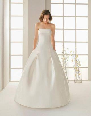 Tallas vestidos de novia rosa clara