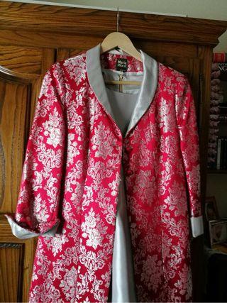 Vestido y abrigo Fiesta talla 42