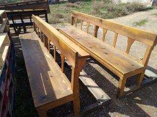 banco madera vintage