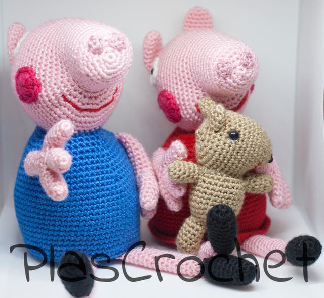 PATRÓN GRATIS GEORGE PIG AMIGURUMI - Lutepy Collection | 590x640