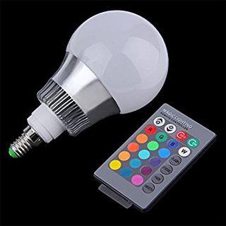 Bombilla lámpara luz color con mando a distancia