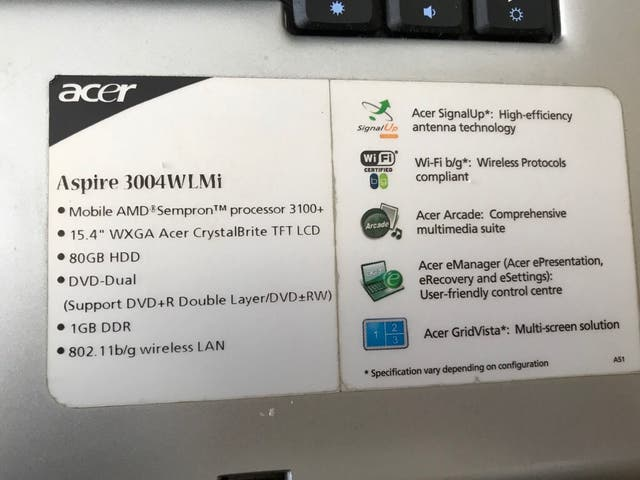 Acer portatil