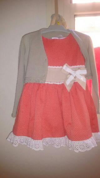Vestido y rebeca niña