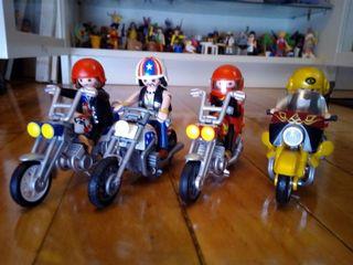 Lote 4 motos Playmobil
