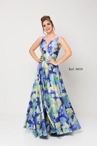 Vestido largo flores fiesta