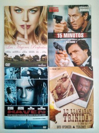 Lote de 4 peliculas de dvd