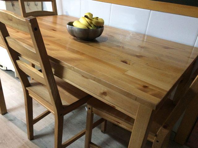 Mesa cocina o comedor + 3 sillas Oferta! de segunda mano por ...