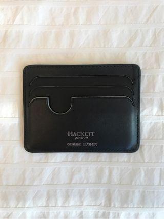 Tarjetero Hackett Negra de cuero