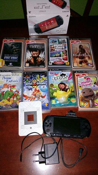 Consola psp + juegos