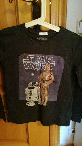camiseta star wars t.9-10