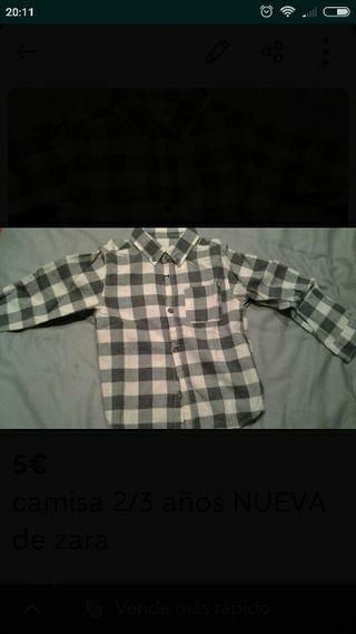 camisa 2/3 años NUEVA