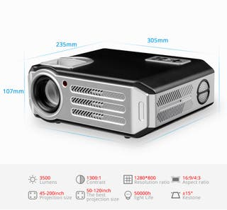 Proyector Profesional 3500 lumens Multimedia Wifi
