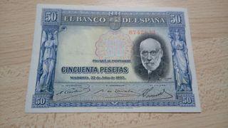 50 pesetas 1935 azul !!