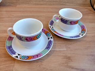 juego de tazas de porcelana