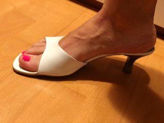 Sandalias mujer blancas 39