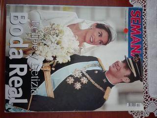 Felipe y Letizia Boda Real revista Semana