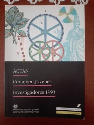 Actas certamen jóvenes investigadores 1993