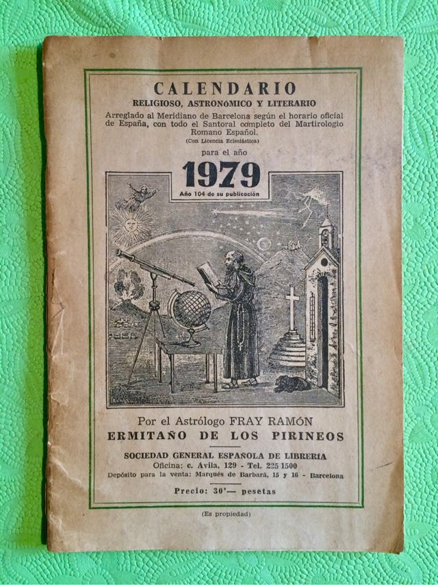 Calendario Del 1979.Calendario Ermitano De Los Pirineos 1979 De Segunda Mano Por