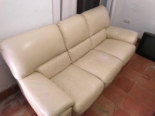 Sofá de piel ( 2 piezas)