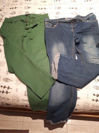 2 pantalones chica talla 42