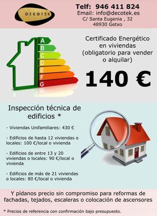 Certificado energético o ITE a precio economico