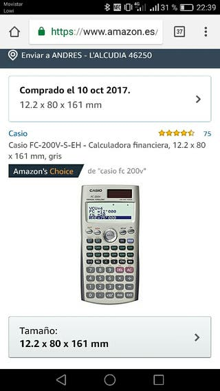 calculadora FC 200