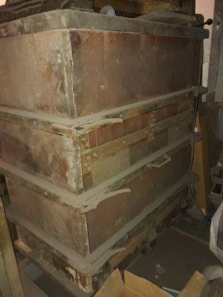 prensa hidraulica antigua