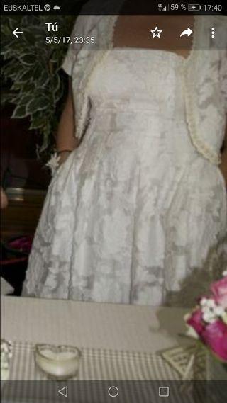 vestido conjunto novia