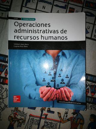 Libro operaciones administrativas de RR. HH 2°GA
