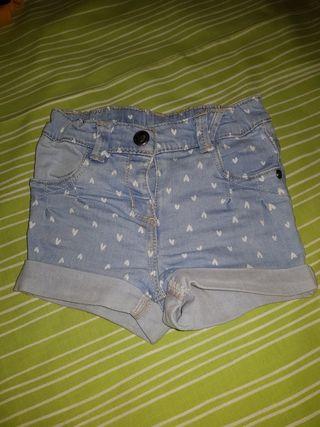 pantalon corto bebe